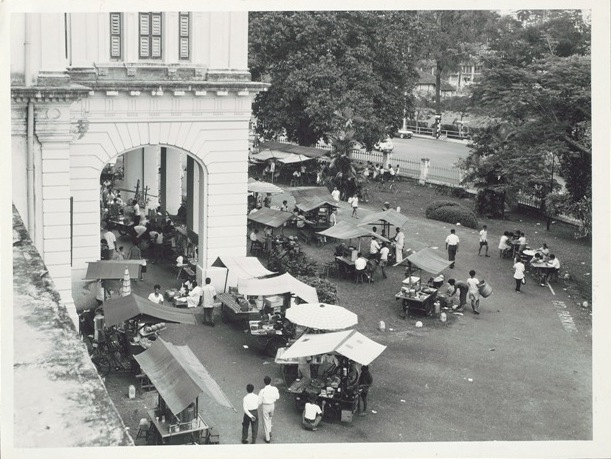 Hawkers on the National Museum grounds in the 1960s